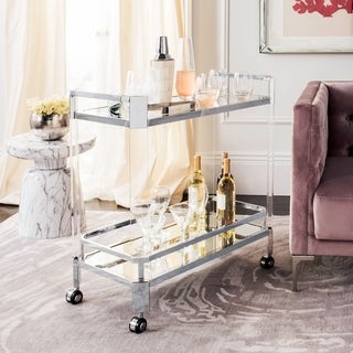 Link to Safavieh Couture Gianna Glass Bar Trolley - Clear - 32 In W x 17 In D x 31.5 In H - 32 In W x 17 In D x 31.5 In H Similar Items in Home Bars