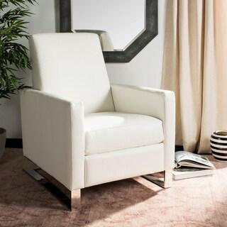 Safavieh Couture Brenton White/ Silver Commercial Grade Recliner Chair