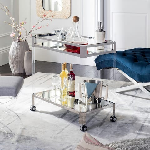 Safavieh Couture Safavieh Couture Iago Mirror Bar Trolley- Clear - 32.4 In W x 18 In D x 30 In H