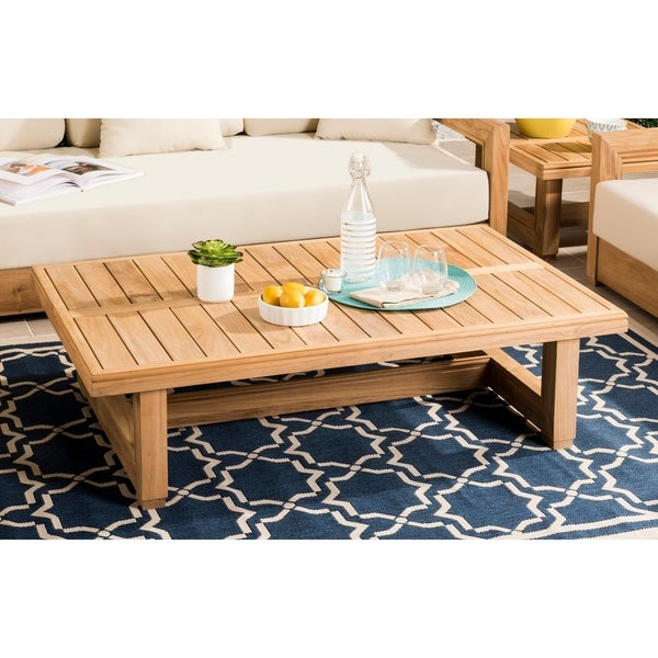 Shop Safavieh Couture Outdoor Montford Teak Commercial ...