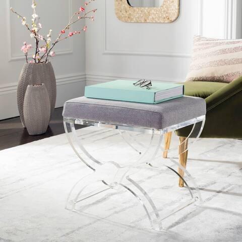 Safavieh Couture Delfina Acrylic Ottoman- Clear
