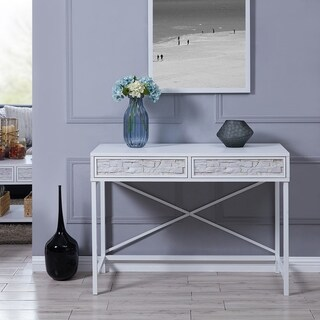 The Curated Nomad Duboce Faux Stone Console Table