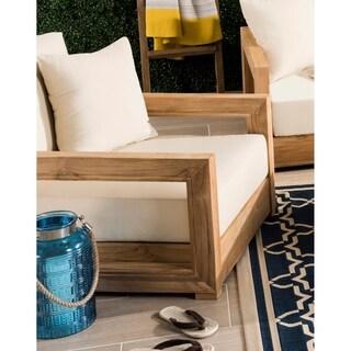 Safavieh Couture Outdoor Montford Brown / Beige Commercial Grade Armchair