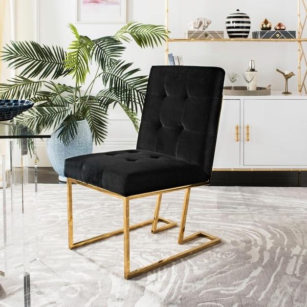 Shop Safavieh Couture Morrison Gold/ Black Velvet Side