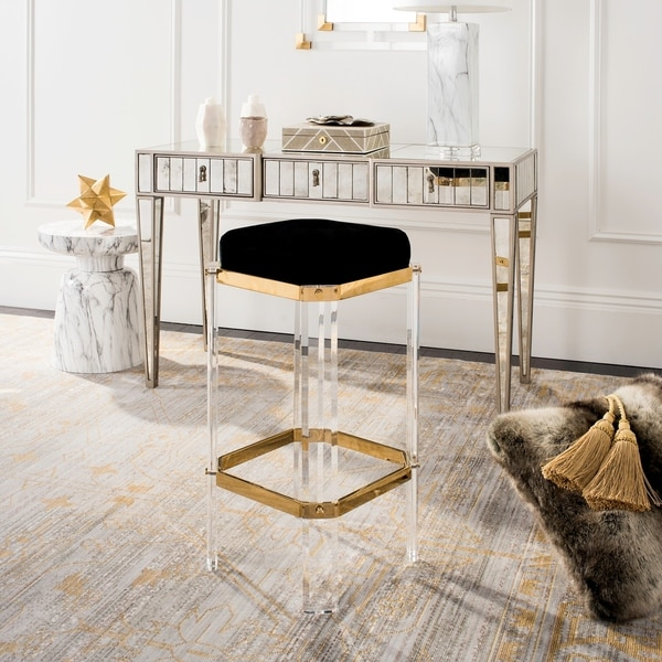 Shop Safavieh Couture Cicely Acrylic Bar Stool Gold