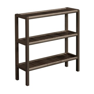 NewRidge Home Solid Wood Abingdon Console, Stand, Bookcase, Shoe Rack, 3 Tier