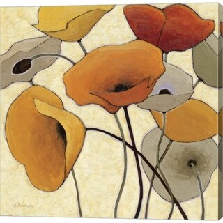 Shirley Novak 'Pumpkin Poppies III' Canvas Art