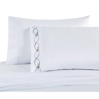 VCNY Home Floral Wave Embroidered Sheet Set