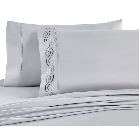 VCNY Home Lafayette Embroidered Sheet Set