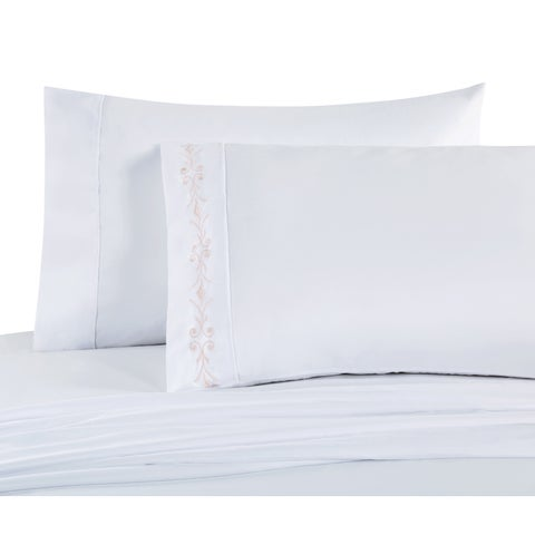 VCNY Home Fleure Embroidered Sheet Set