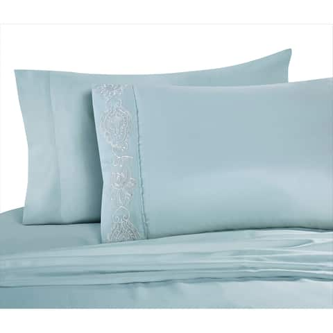 VCNY Home Akira Embroidered Sheet Set