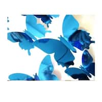 3D Mirrored Butterfly Wall Decals