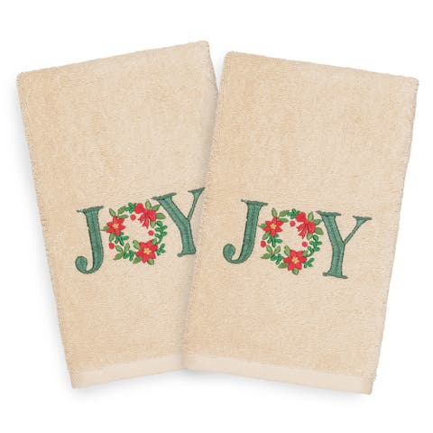 Authentic Hotel and Spa Turkish Cotton Joy Beige Set of 2 Hand Towels