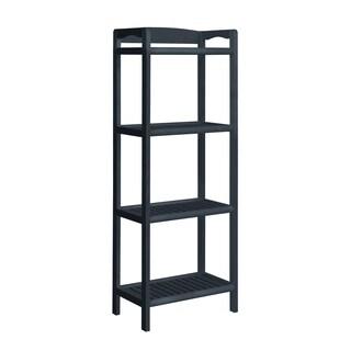 NewRidge Home Abingdon Solid Wood Tall Bookcase, Bookshelf