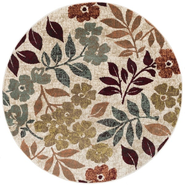 Shop Alise Rugs Decora Transitional Floral Round Area Rug