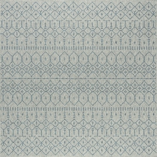Alise Rugs Seros Modern Solid Square Area Rug - 7'8 x 7'9