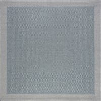 Alise Rugs Seros Modern Solid Square Area Rug - 5'1 x 5'2