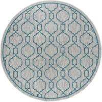Alise Rugs Colonnade Transitional Geometric Round Area Rug - 5'3 x 5'3