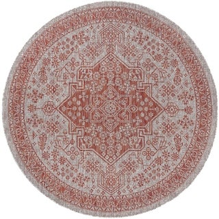 Alise Rugs Colonnade Traditional Medallion Round Area Rug - 5'3