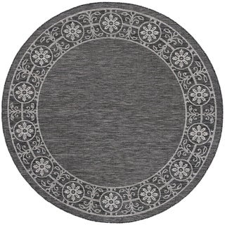Alise Rugs Colonnade Traditional Border Round Area Rug - 5'3 x 5'3