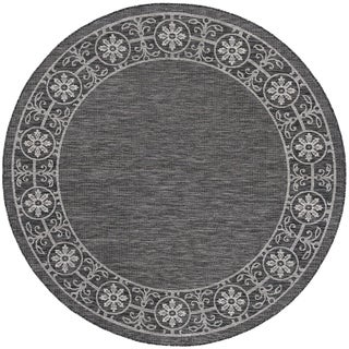 Alise Rugs Colonnade Traditional Border Round Area Rug - 5'3