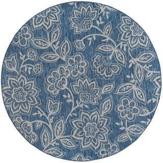 Alise Rugs Colonnade Transitional Floral Round Area Rug - 5'3 x 5'3