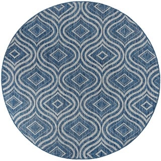 Alise Rugs Colonnade Contemporary Geometric Round Area Rug - 5'3 x 5'3