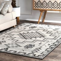 nuLOOM Contemporary Modern Abstract Tribal Medallion Area Rug - 8' x 10'