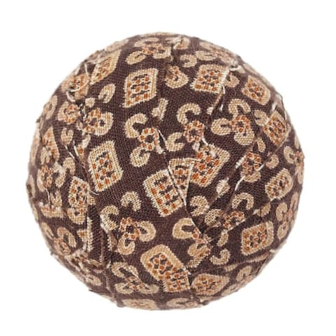 Rustic Holiday Decor VHC Tacoma Fabric Ball Set of 6 Cotton Geometric