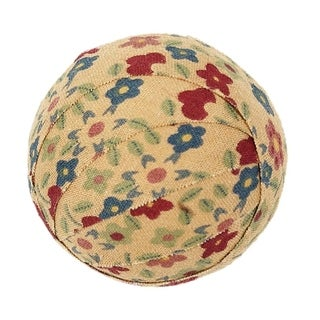 Farmhouse Holiday Decor VHC Cookie Cutter Fabric Ball Set of 6 Cotton Floral - Flower - Small Fabric Ball Set