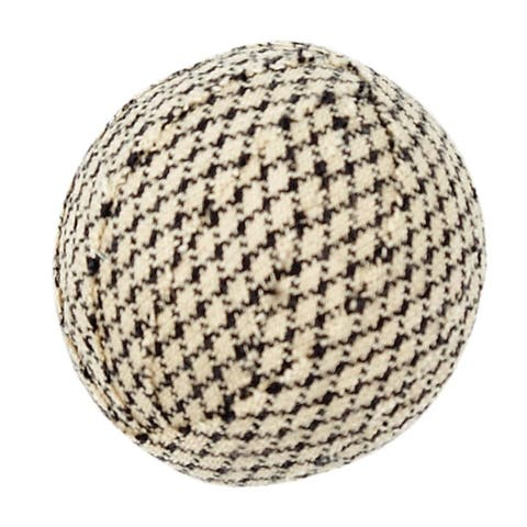 White Primitive Holiday Decor VHC Farmhouse Star Fabric Ball Set of 6 Cotton Houndstooth