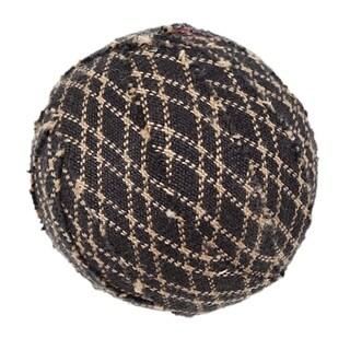 "VHC Farmhouse Star Primitive Classic Decor Round Fabric Ball Set of 6 - 1.5"""