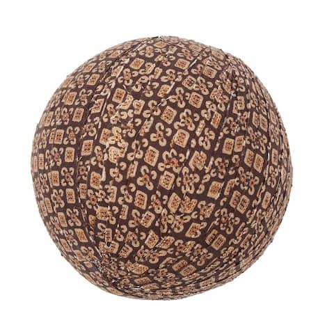Rustic Holiday Decor VHC Tacoma Fabric Ball Set of 3 Cotton Geometric