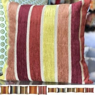 Pillow Décor - Savannah Stripes Chenille Throw Pillow