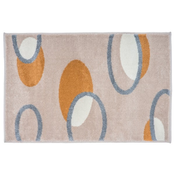 Contemporary Eclipse Geometric Rug Beige - 2' x 3'