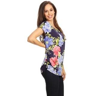 Women's Pattern Print Short Sleeve Tunic Tee