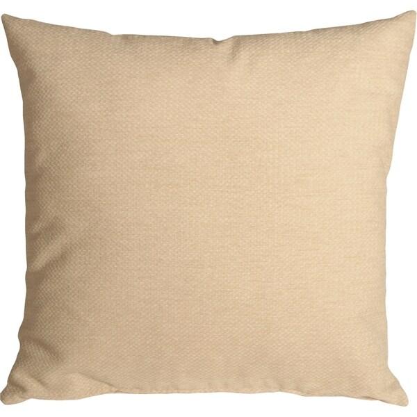 Pillow Decor - Arizona Chenille 16x16 Cream Throw Pillow