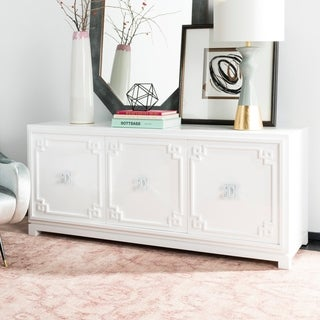 Safavieh Couture Arcelia 3-Door White Lacquer Wooden Sideboard
