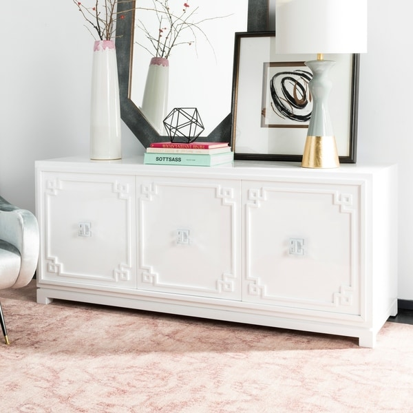 Shop Safavieh Couture Arcelia 3 Door White Lacquer Wooden Sideboard