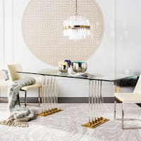 Safavieh Couture Giustina Clear Glass Dining Table