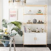 Safavieh Couture Adelia White/Goldtone Lacquer/Wood/Metal Bookshelf