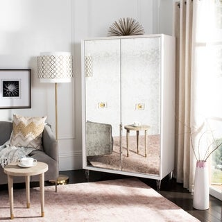 Safavieh Couture Arcelia Eglomise Cabinet - White - 40 in w x 20 in d x 68 in h