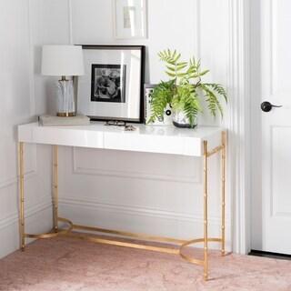 Safavieh Couture Alizae Bamboo White/Gold Console