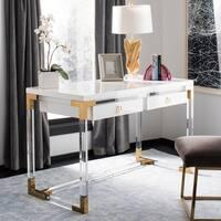 Safavieh Couture Dariela Acrylic Desk - White / Gold