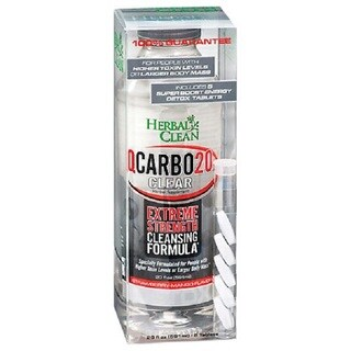 Herbal Clean 20-ounce Q-Carbon Clear Strawberry Mango
