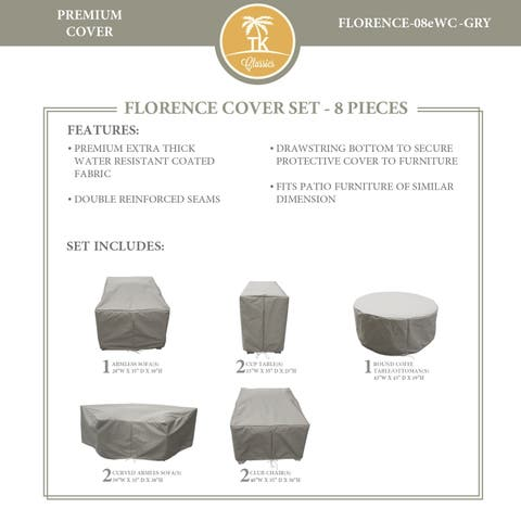FLORENCE-08e Protective Cover Set, in Grey