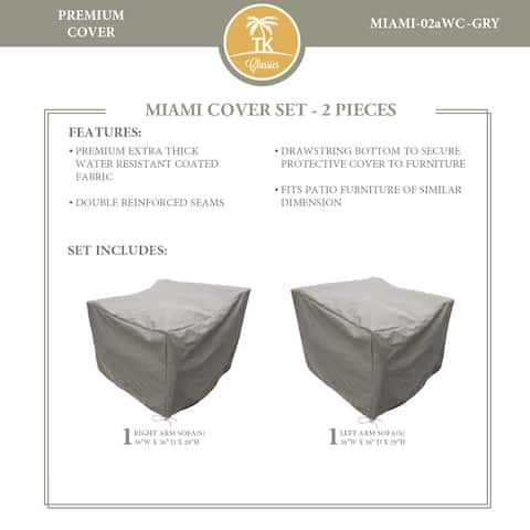 MIAMI-02a Protective Cover Set, in Grey