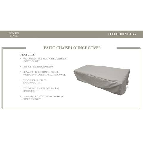 Classic/Oasis/Fairmont/Cape Cod/Venice/Laguna Chaise Lounge Protective Cover, in Grey