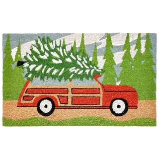 "Home Tree Home Coir Door Mat (1'6"" x 2'6)"
