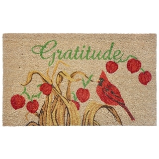 "Liora Manne Grace Coir Welcome Door Mat (1'6"" x 2'6)"
